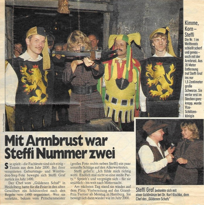 Hans mit Steffi Graf